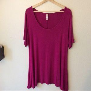 Lularoe Purple/Pink Short Sleeved Top
